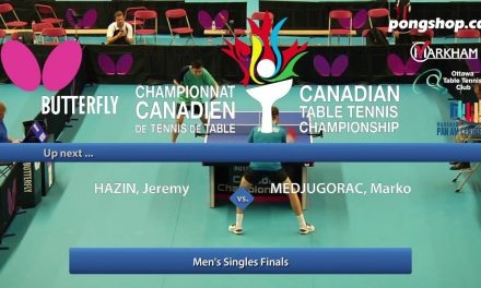 Butterfly Table Tennis Canada Cup Final 2017
