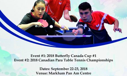 Coupe Canada Butterfly  #1 2018 / Championnats Canadiens Para