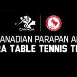 Cinq joueurs de paratennis de table concourront pour le Canada aux Jeux parapanaméricains de Lima 2019