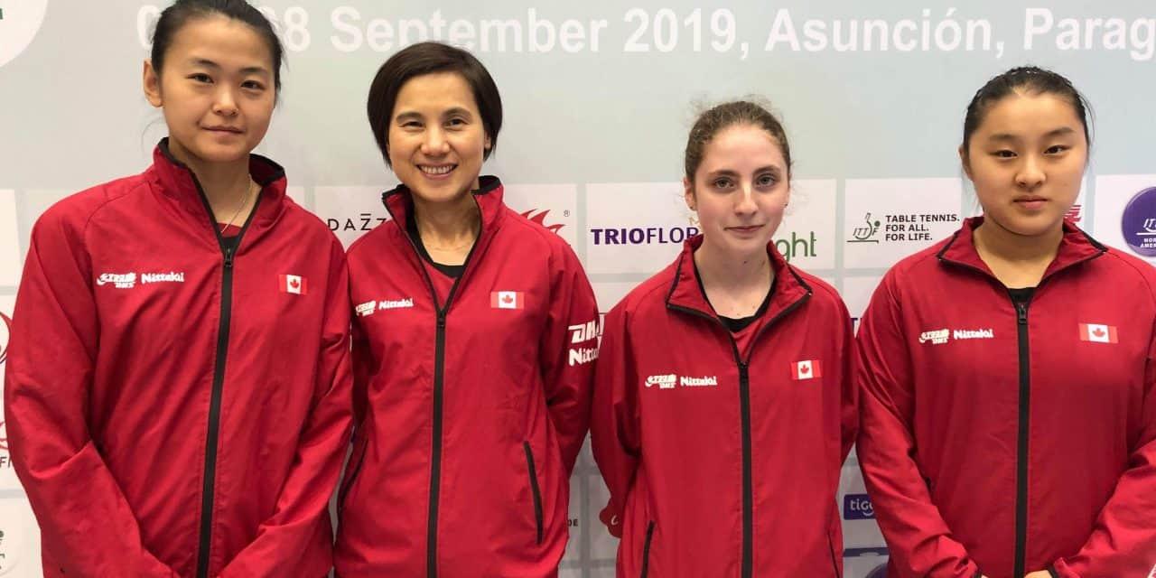 L'équipe féminine a obtenu son laissez-passer pour les Championnats du monde par équipe de tennis de table 2020.