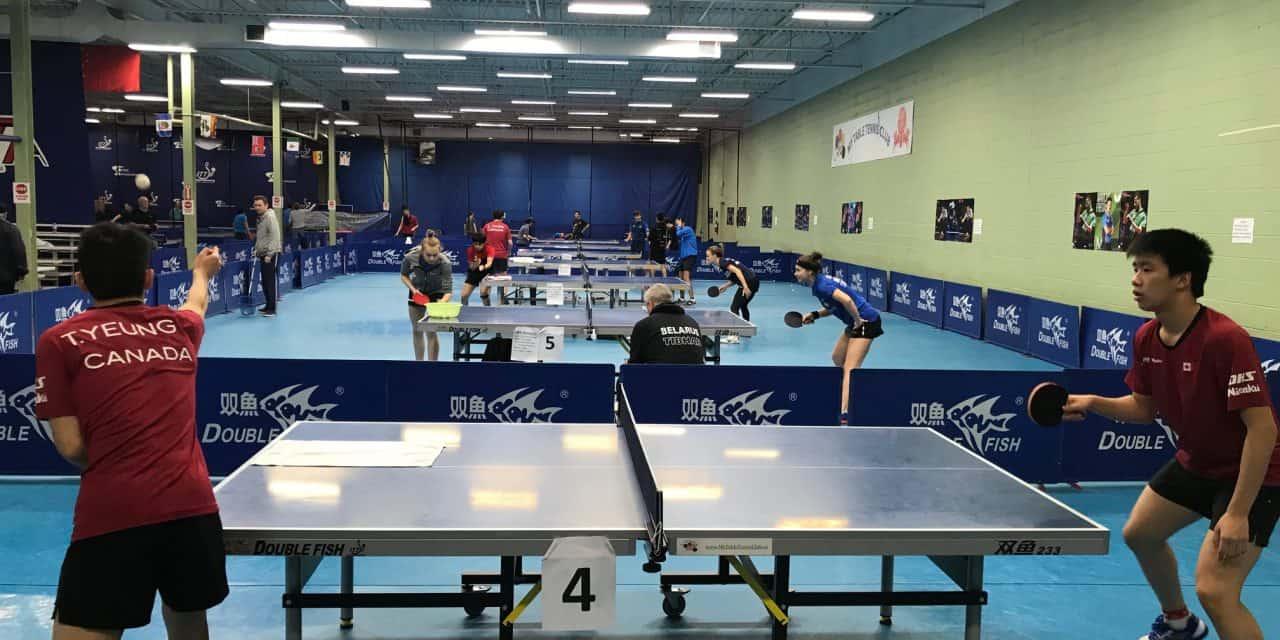 ITTF High Level training camp in Mississauga, Ontario