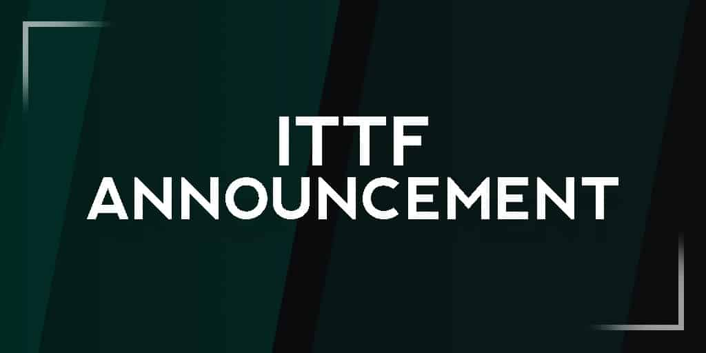ITTF suspends all activities provisionally until end of April