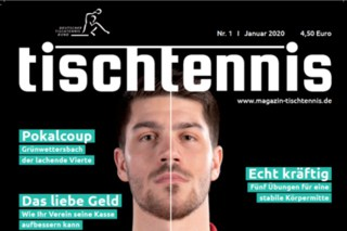 « Wintersport Tischtennis », un article du magazine allemand de tennis de table « Tischtennis »