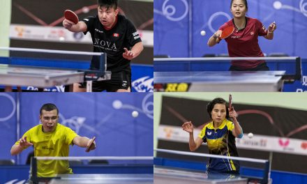 Four Canadians qualified for the ITTF North American Olympic Games qualifier