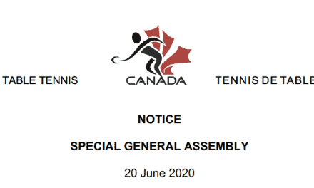 SPECIAL GENERAL ASSEMBLY – 20 June 2020