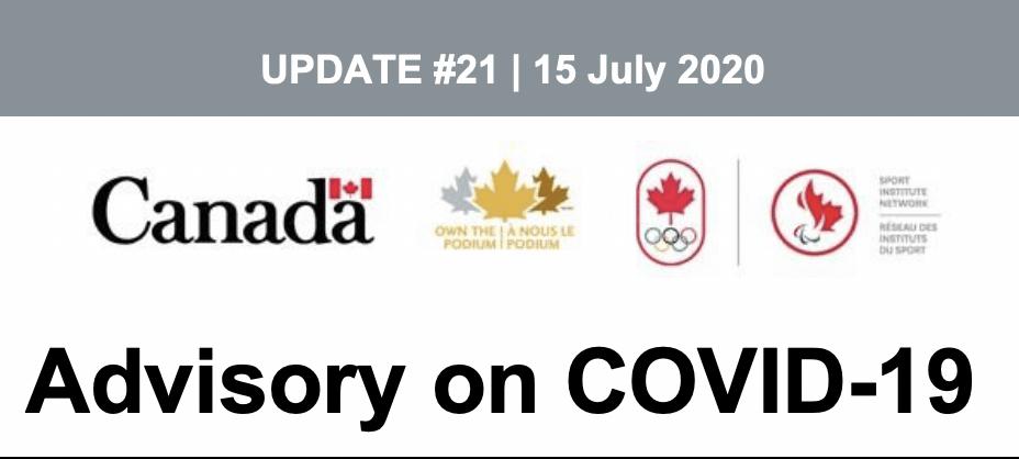 Advisory – COVID-19 Update #21, 15 July 2020