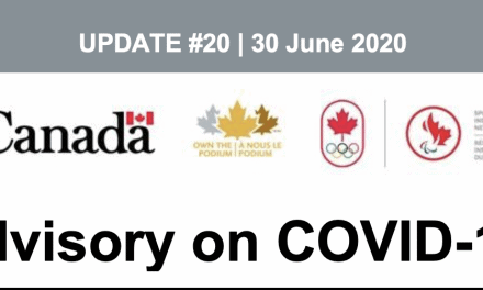 Advisory – COVID-19 Update #20, 30 June 2020