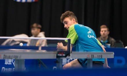 Mattéo Martin receives scholarship from Champlain Table tennis Club