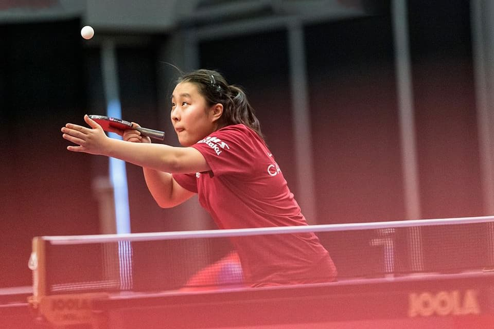 CHAMPLAIN TABLE TENNIS SCHOLARSHIP FOR JOYCE XU
