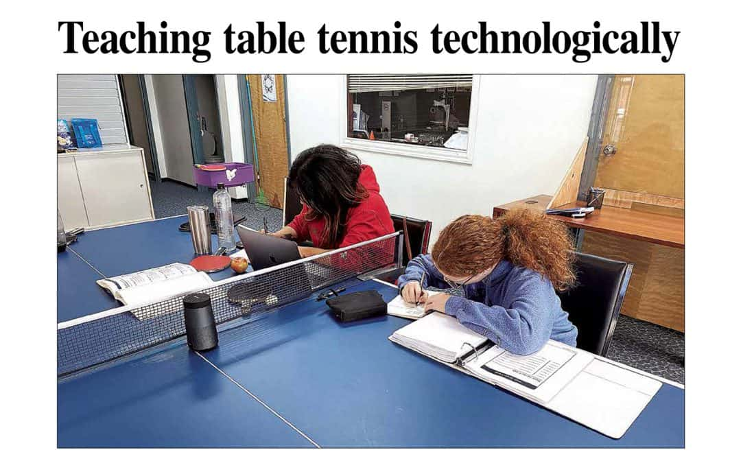 La technologie au service de l'enseignement du tennis de table