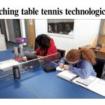 Teaching table tennis with technology