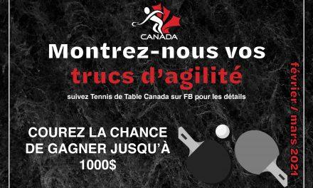Compétition de truc d'agilité de tennis de table