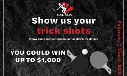 Table Tennis trick shot competition