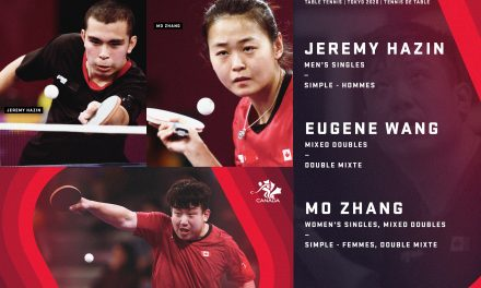Three table tennis players nominated to Team Canada for Tokyo 2020